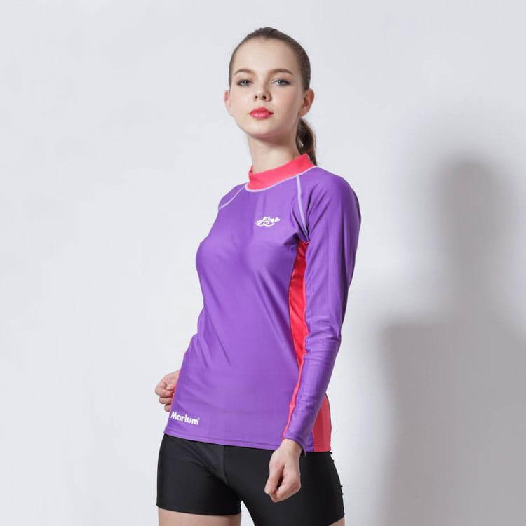 半身水母衣/長袖─紫