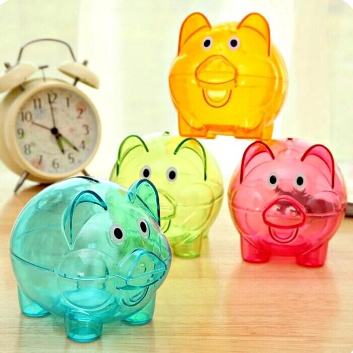 ( 小號 - 8*8*10cm)小豬撲滿 存錢筒 大豬公 存錢 零錢收納 零錢罐 玩具葉子小舖