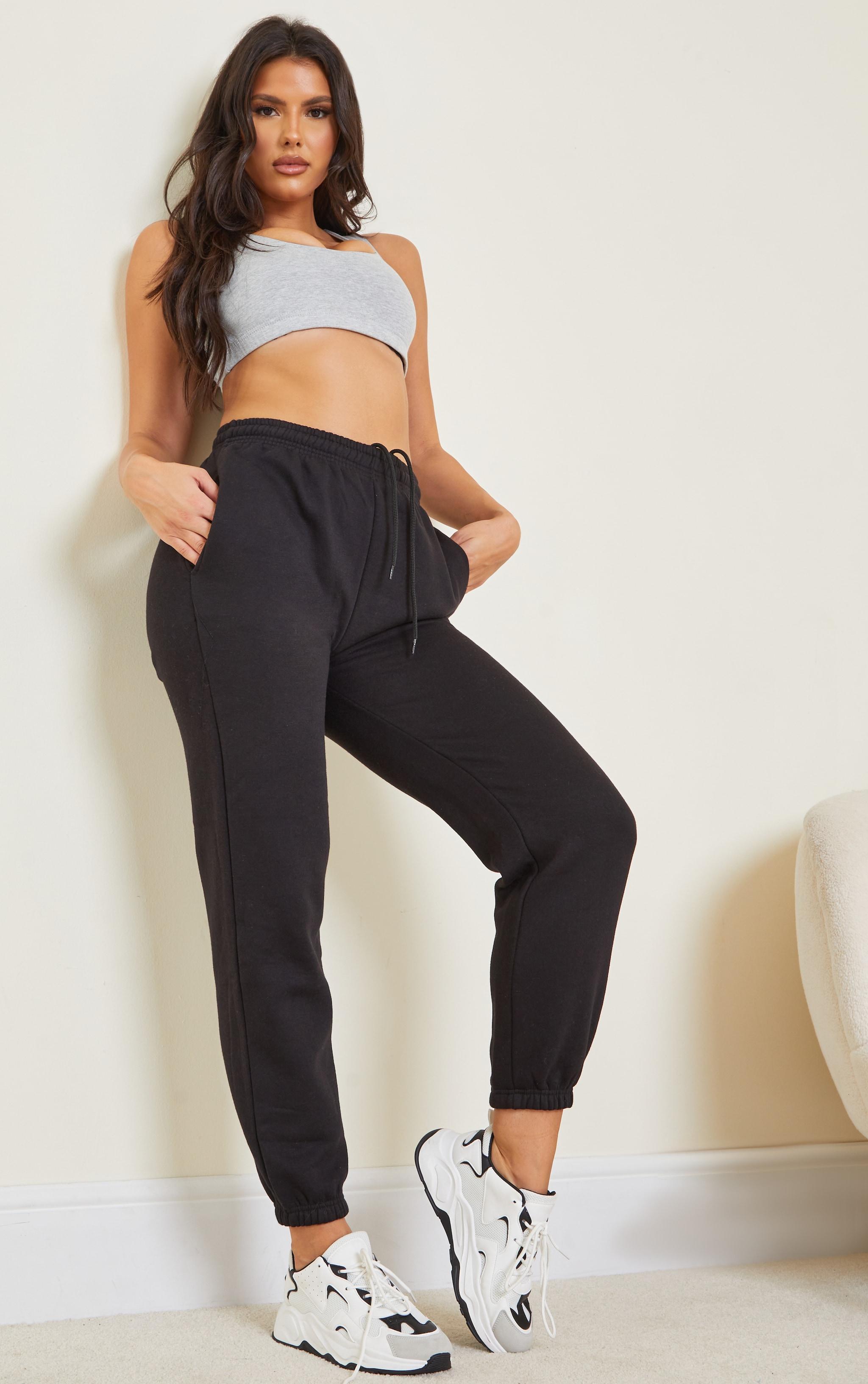 Tall Black Marl Track Pants