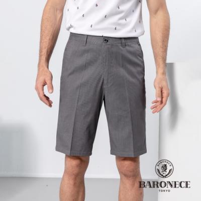BARONECE 百諾禮士休閒商務  男裝 條紋舒適平口休閒短褲-深灰色(1198990-95)