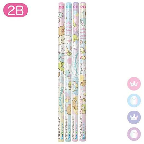 小禮堂 角落生物 日製 圓桿鉛筆組 2B鉛筆 木鉛筆 (粉紫 遊樂園) 4974413-76444