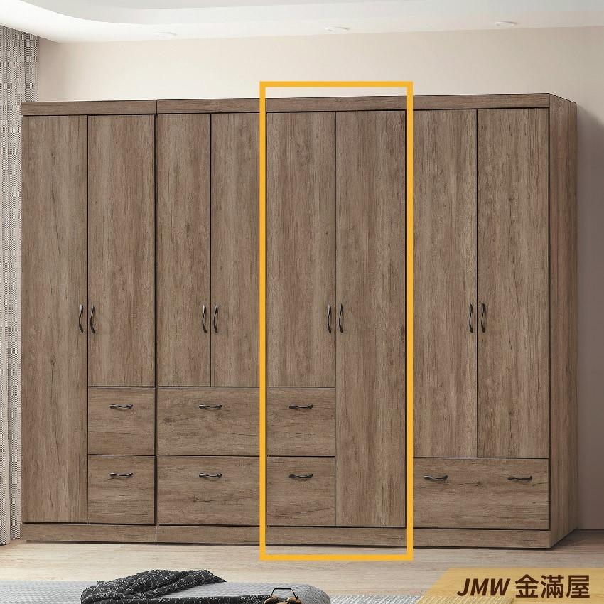 75cm衣櫃 尺衣櫥金滿屋木心板 推門滑門開門 衣服收納 免組裝-g437-3 -