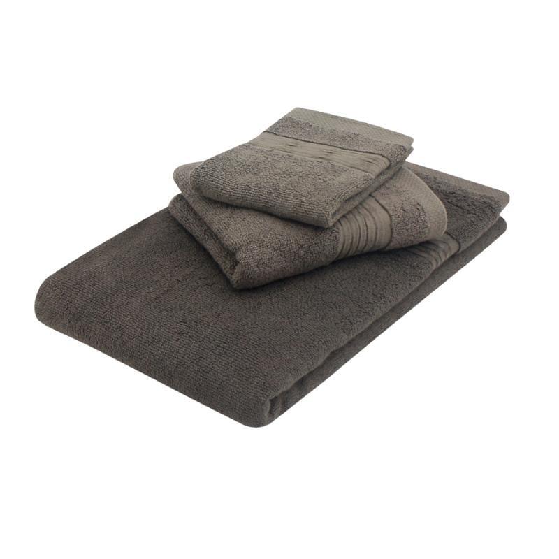 美國棉五星級方毛浴巾組 卡其