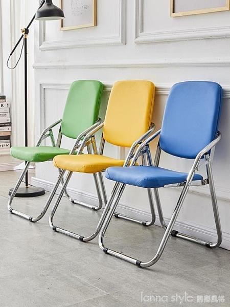 折疊椅子家用靠背椅電腦椅辦公椅職員椅會議椅培訓椅凳子午休閒椅 年終大促 YTL