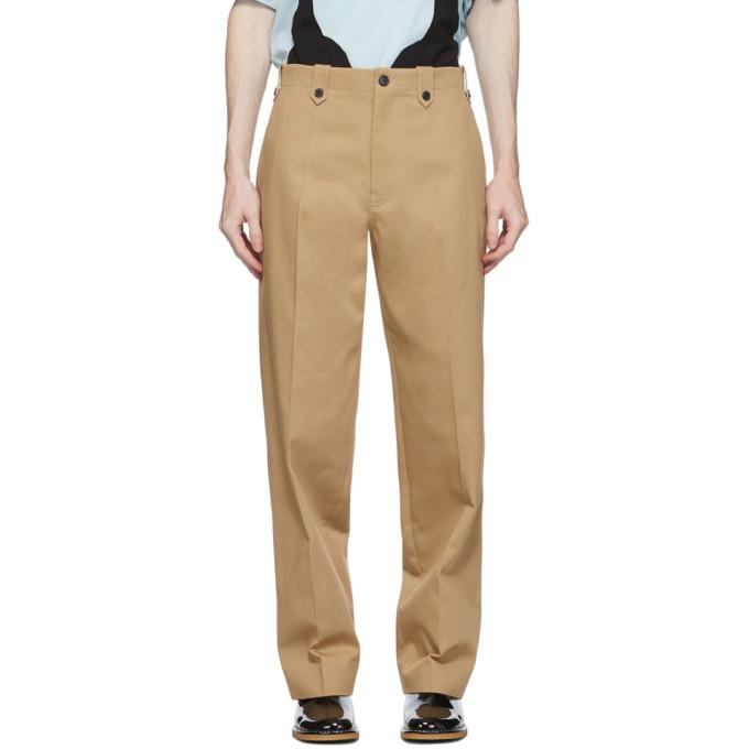 Loewe 驼色直筒长裤