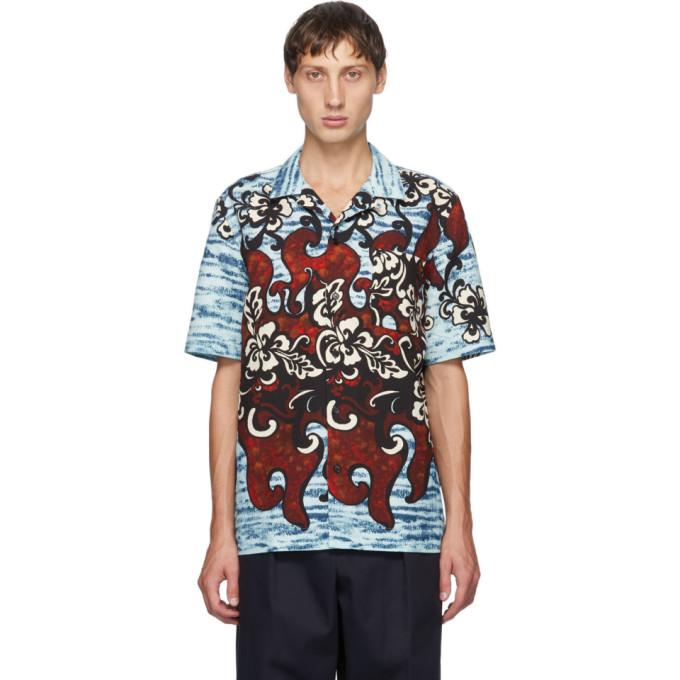 Dries Van Noten 多色花卉短袖衬衫