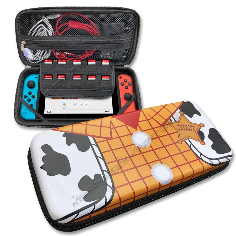 Nintendo Switch 迪士尼玩具總動員 EVA防震硬殼收納包(胡迪裝)