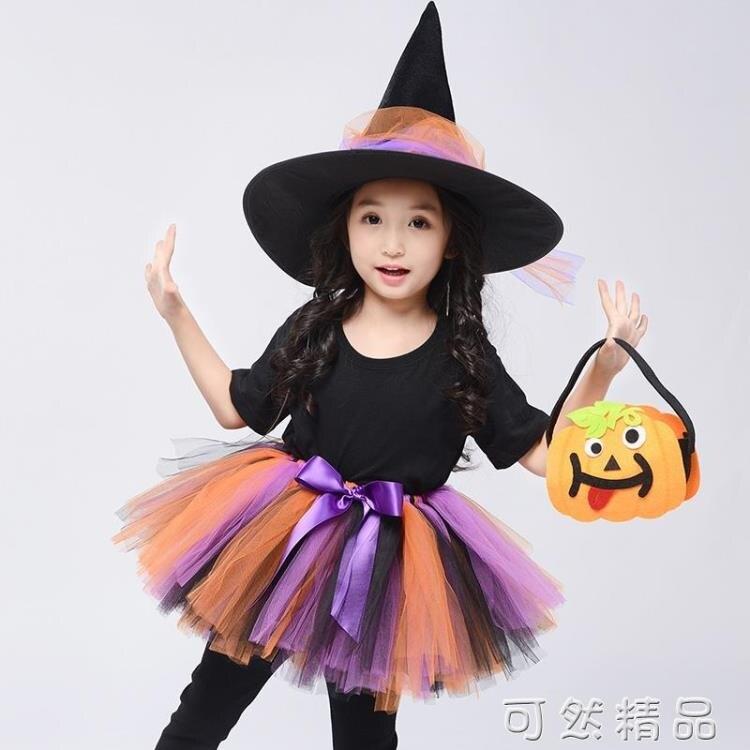 搶先福利 兒童萬圣節親子服裝女童公主裙巫婆女巫cos裝扮化妝舞會演出服 現貨快出 夏季狂歡爆款