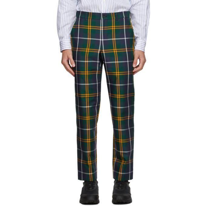 Comme des Garcons Homme Plus 绿色苏格兰格纹长裤