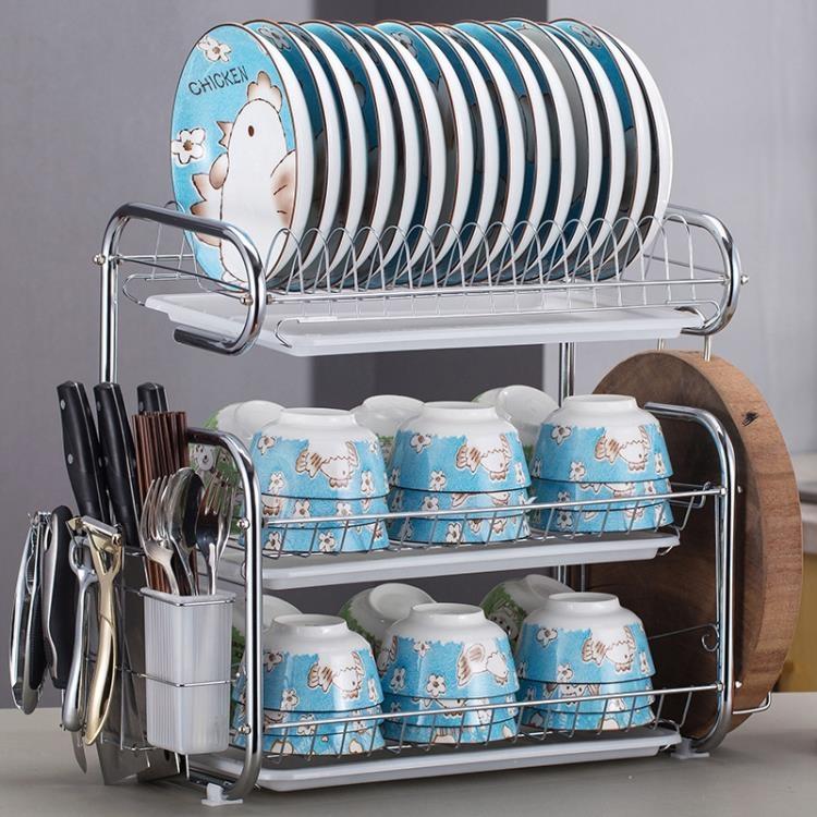 廚房置物架用品用具晾洗放瀝水碗架碗柜碗碟碗筷盤刀收納盒餐具架