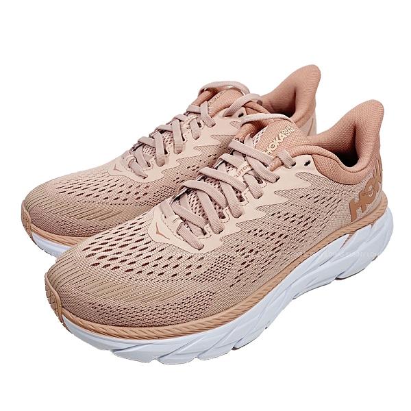 (B8) Hoka One One女鞋 Clifton 7超緩震慢跑鞋 運動鞋HO1110509MRCB粉藕 [陽光樂活]