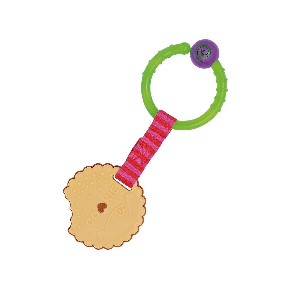 toyroyal樂雅 - 可消毒 草莓餅乾掛件固齒器