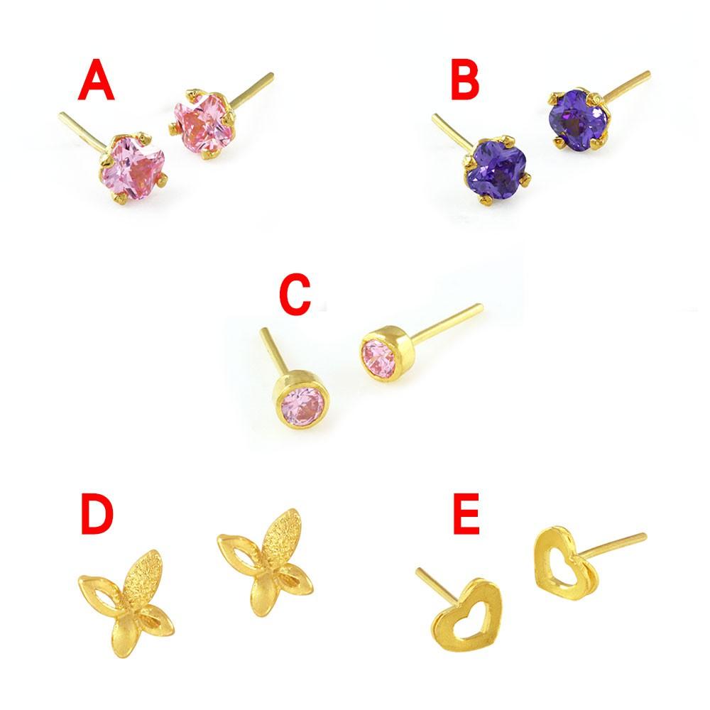 【伊利沙】 純金999 黃金耳環 造型黃金耳環