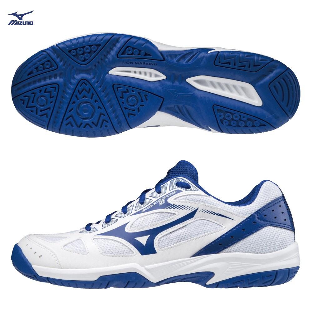 MIZUNO CYCLONE SPEED 2 男鞋 女鞋 排球 手球 基本 耐磨 白 藍【運動世界】V1GA198019