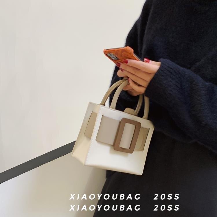 托特包女 小眾設計包包 奶油蛋糕托特包手提包女小包包斜挎包女包新款2020 清涼一夏钜惠