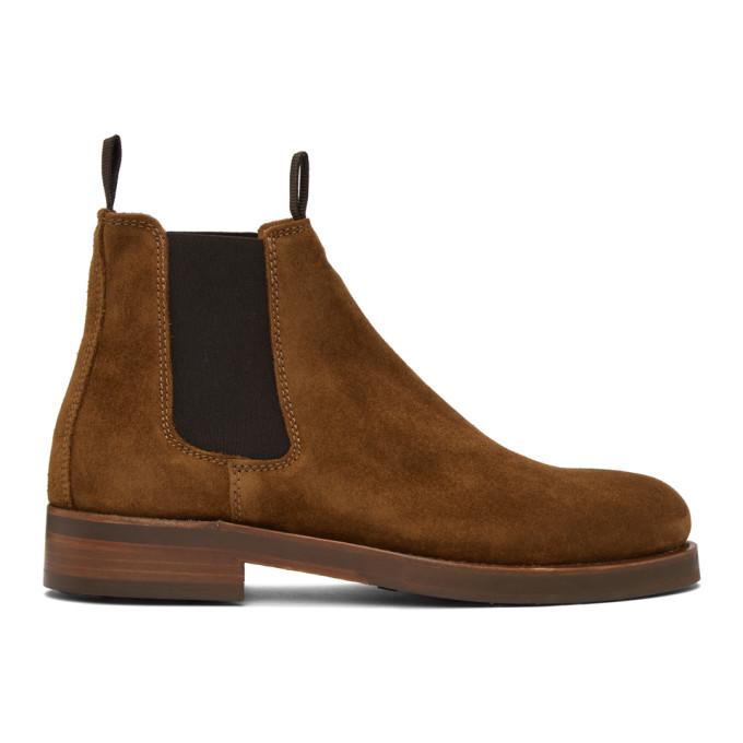 Belstaff 棕色 Longton 绒面革切尔西靴