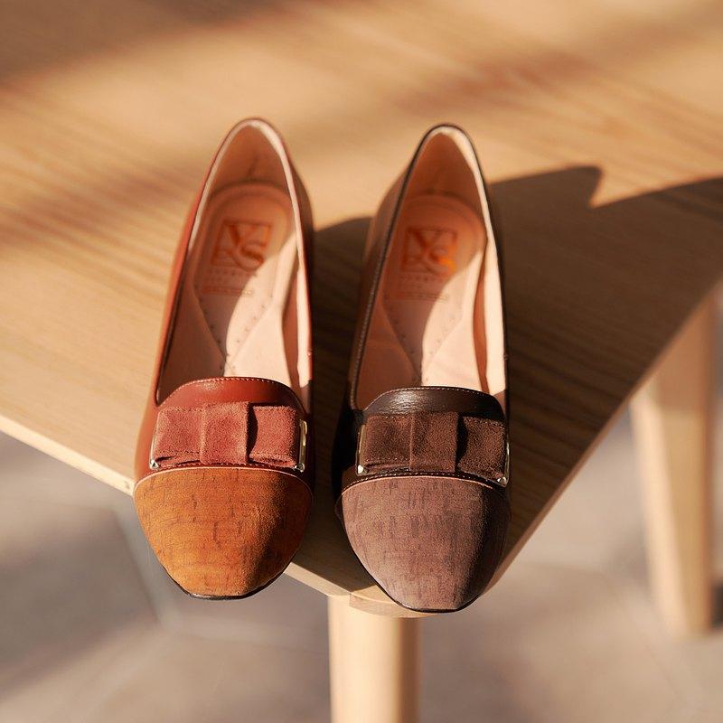 【涼夏特惠8折】洋森生活   典雅木紋跟鞋
