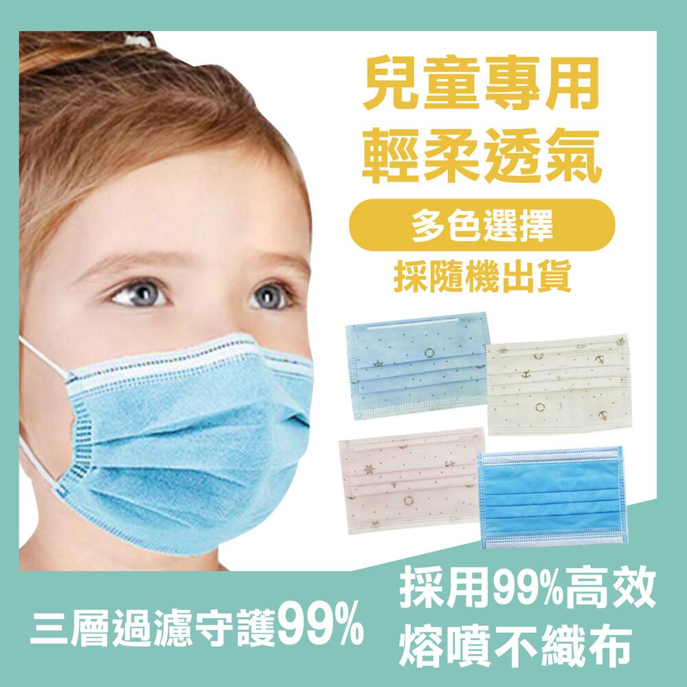 (ce認證口罩)拋棄式三層熔噴布可愛兒童口罩 含90%以上熔噴布(中國製台灣監製)