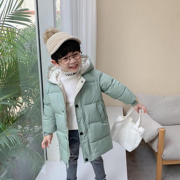 反季兒童加厚保暖羽絨棉服寶寶中長款連帽棉襖男女童韓版外套冬 童趣潮品