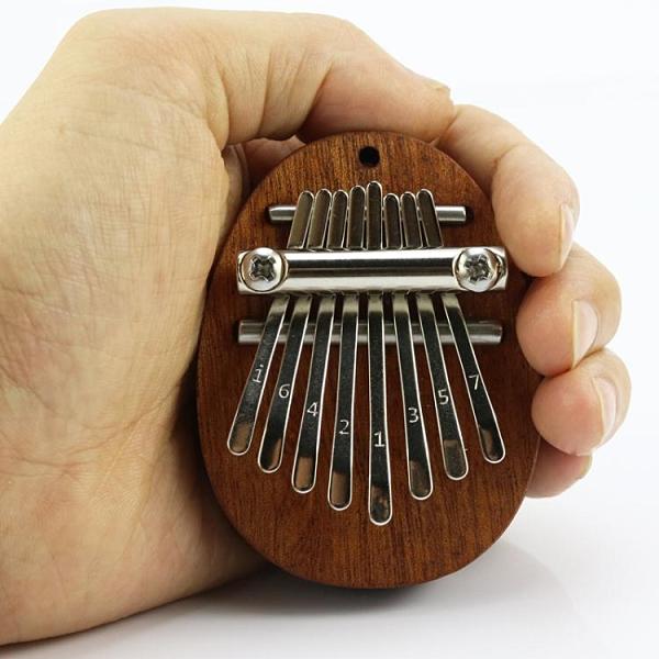 拇指琴迷你拇指琴8音mini卡林巴水晶透明五指琴便攜初學者手指琴樂器式 衣間迷你屋 交換禮物
