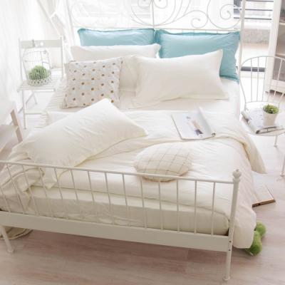 OLIVIA TWINS 全米白 標準雙人床包被套四件組 MOC莫代爾棉 台灣製