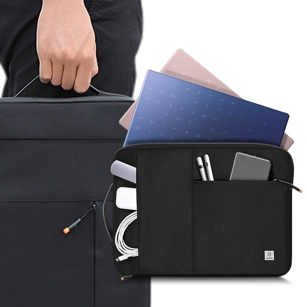 WiWU ALPHA耐震紳士筆電包 14吋可用電腦包 公事包 防撞包 Macbook收納包 平板包