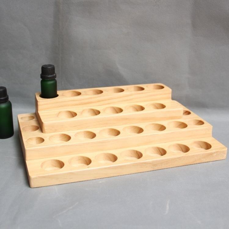 【快速出貨】精油木架木盒精油陳列展示架精油收納盒30格 七色堇 新年春節送禮