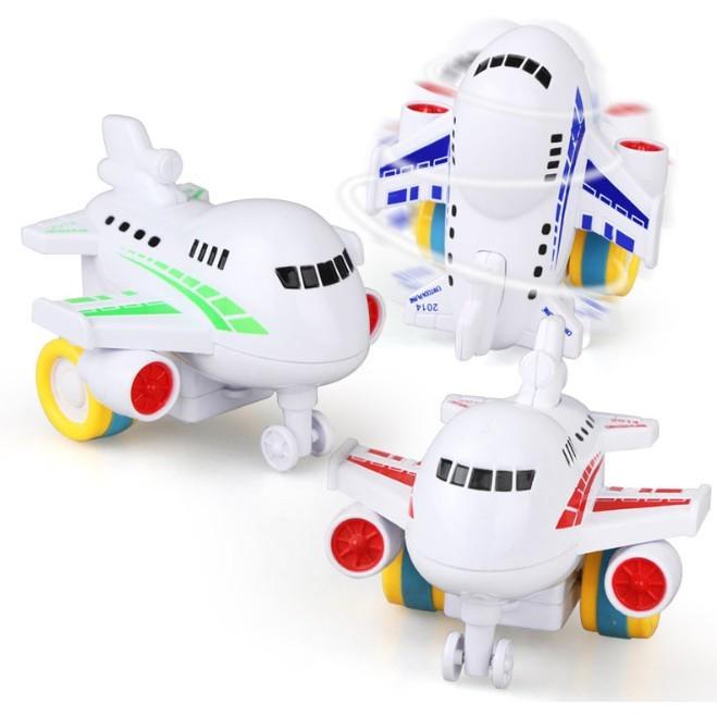慣性客機 磨輪 卡通飛機 玩具車 慣性回力 特技車 單入502014-02a-1