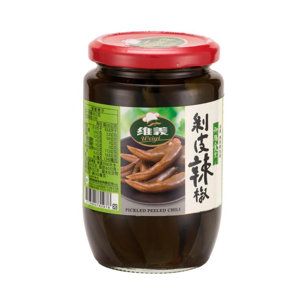 【維義】 御膳食堂 剝皮辣椒 (380g/瓶)