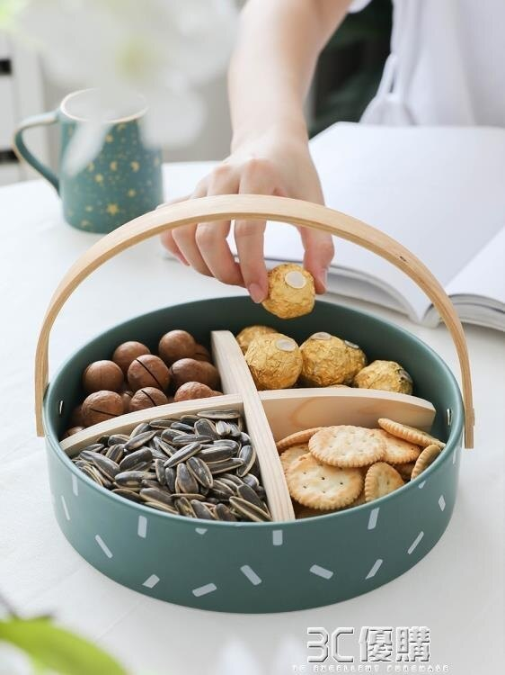 水果盤創意現代客廳小精致下午茶果籃家用茶幾個性北歐糖果零食盤 3C