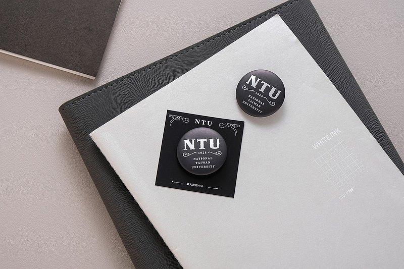 臺灣大學胸章 NTU BADGE 2020 F/W —經典學院風-霧黑