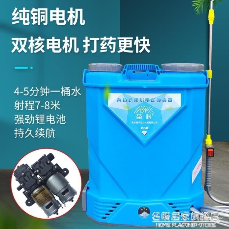 電動噴霧器農用高壓雙泵大功率鋰電背式打藥機大棚消毒噴霧壺雙核 秋冬特惠上新~