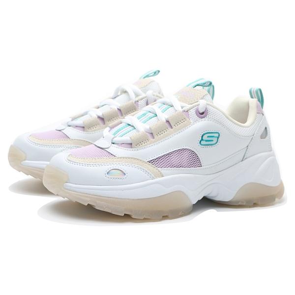 SKECHERS 休閒鞋 KOZMIKS 1.0 白紫 綠LOGO 卡其果凍底 老爹鞋 女(布魯克林) 88888407WLV
