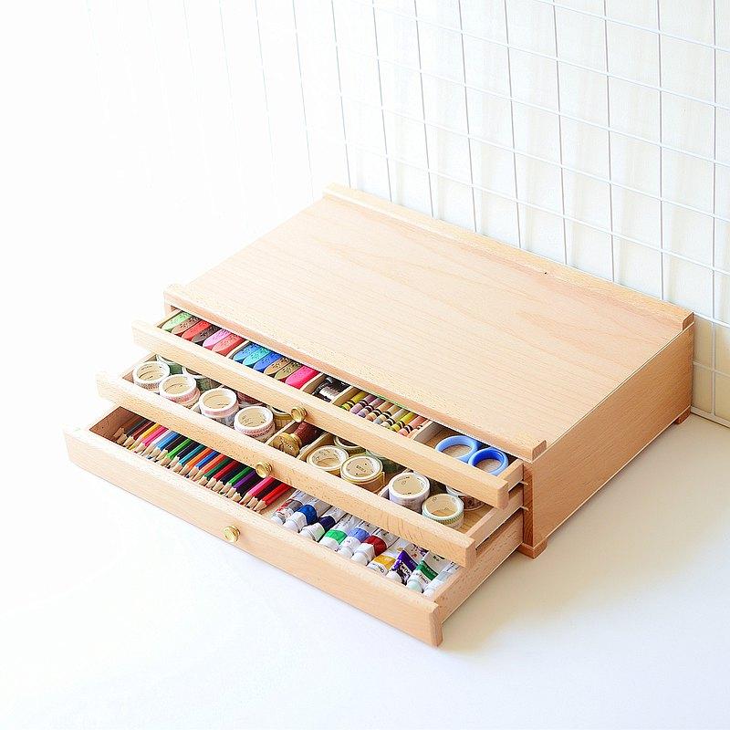 紙膠帶收納盒 手賬收納盒抽屜 文具收納盒櫃 畫筆 辦公文具收納