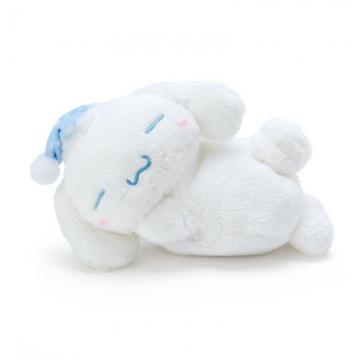 〔小禮堂〕大耳狗 迷你可加熱絨毛玩偶娃娃《藍白》熱敷袋.暖暖袋