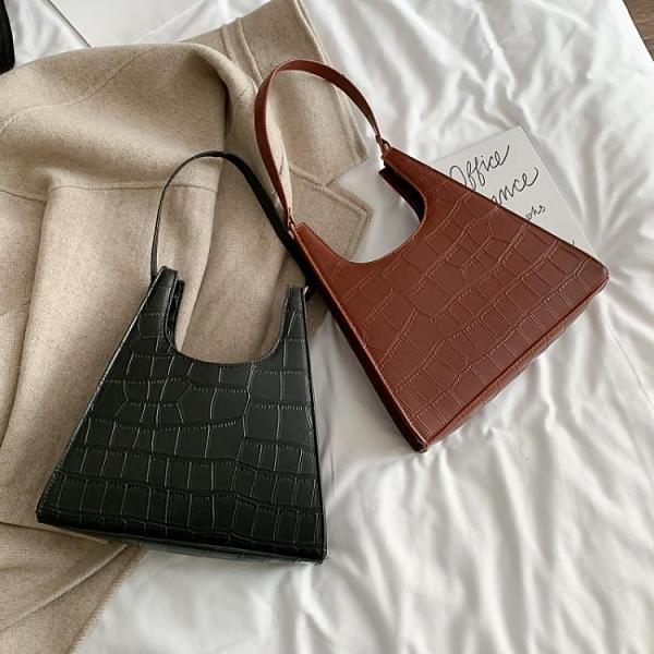 特賣 ins超火小包包女新款質感洋氣手提包高級感石頭紋女士單肩包