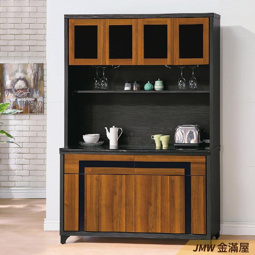 150cm 北歐餐櫃收納 實木電器櫃 廚房櫃 餐櫥櫃 碗盤架 中島大理石金滿屋尺餐櫃-g823-