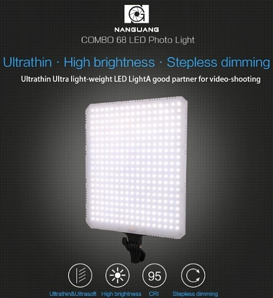【聖影數位】NANGUANG 南冠 Combo 68C 平板燈 68W 攝影燈 補光燈 LED燈 正成公司貨