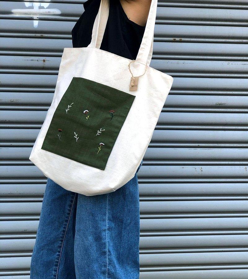 Wildflowers 手工繡托特包Tote Bag