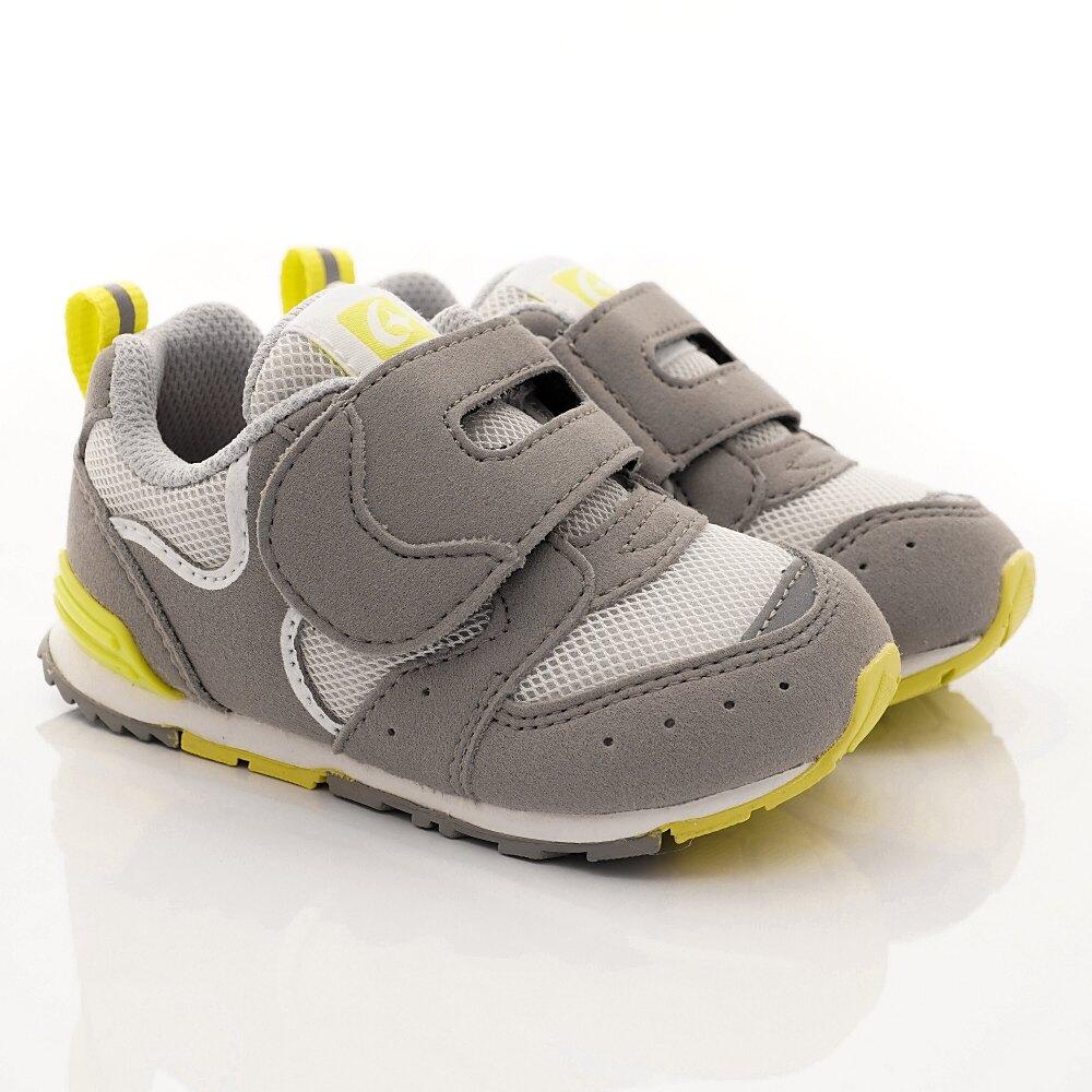 日本月星Moonstar機能童鞋HI系列寬楦頂級學步鞋款1217灰(寶寶段)