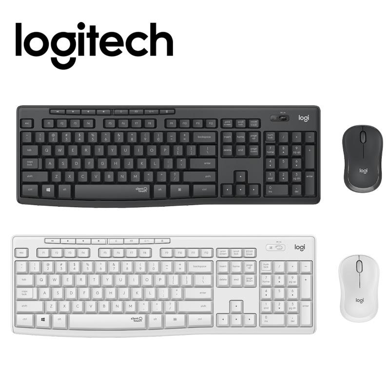 logitech 羅技 MK295 石墨灰 / 珍珠白 無線 鍵盤滑鼠組