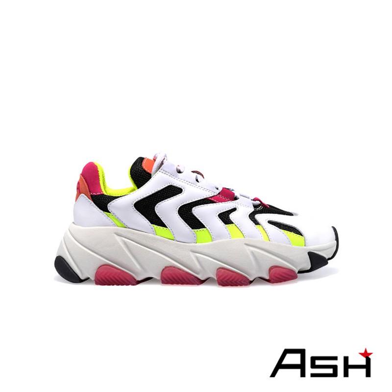 ASH EXTREME 增高厚底老爹鞋 彩螢白色