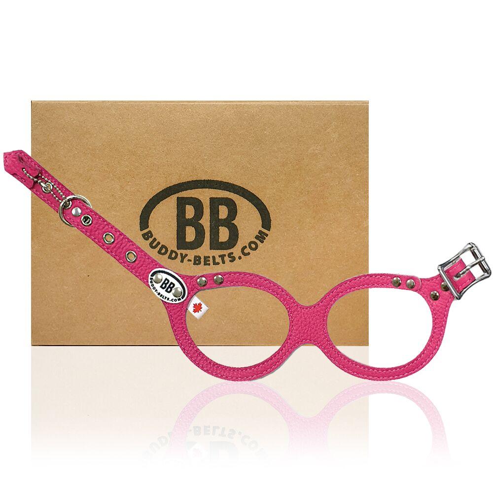 【Buddy Belts】加拿大手工真皮胸背帶-熱情粉紅-3.5號