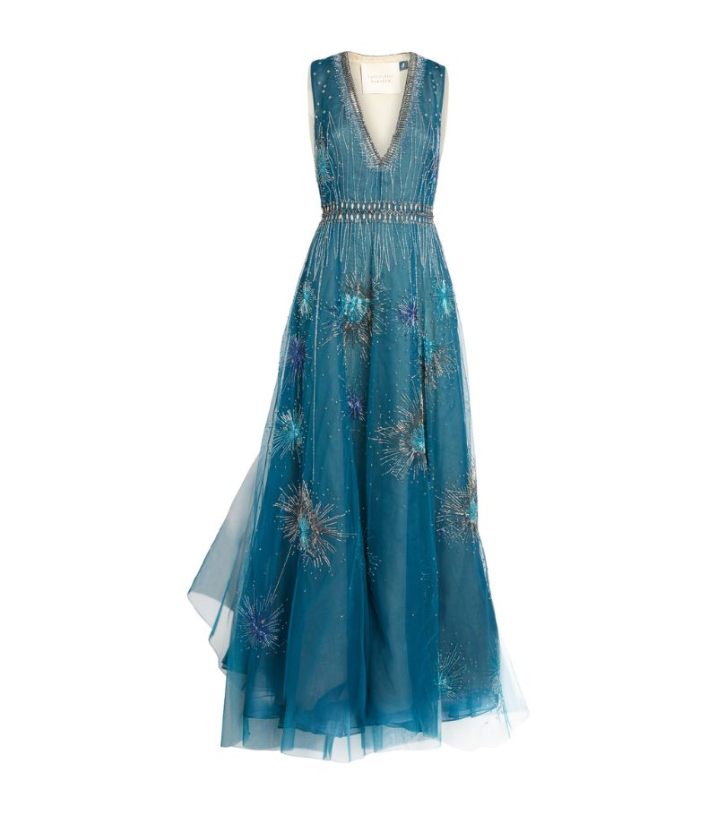 Cucculelli Shaheen Fireworks Embellished Gown