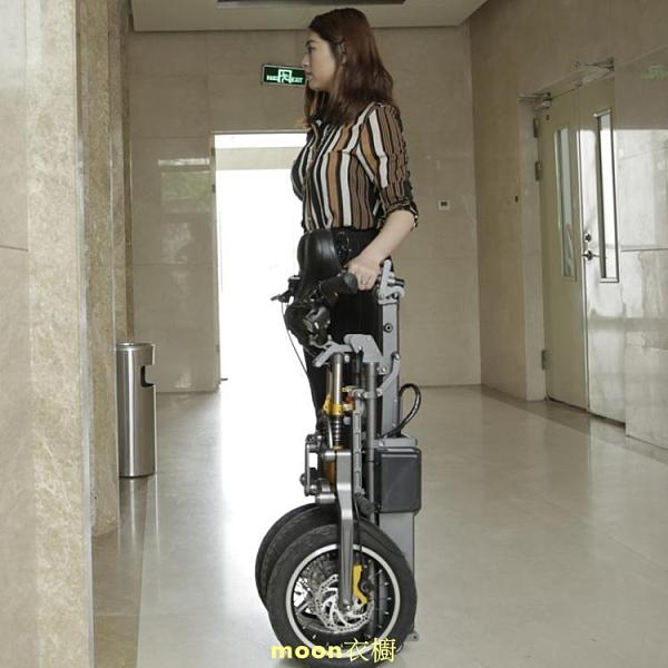 簡行 倒三輪電動代步車 摺疊式接送小孩便捷可拉行親子電瓶自行車 快速出貨