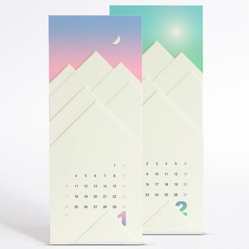 2021 年曆桌曆 消失的雪山 Minimalist簡約紙藝日曆 聖誕交換禮物