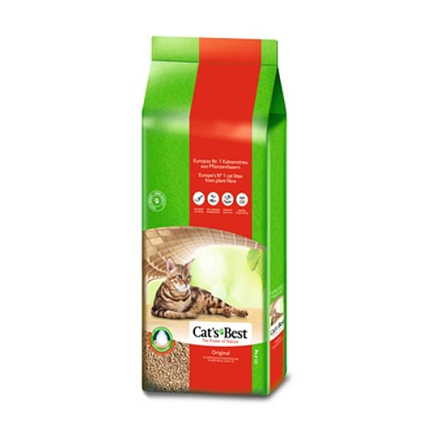 【寵物王國】【免運費】CAT'S BEST 凱優紅標凝結木屑砂40L(17.2KG)