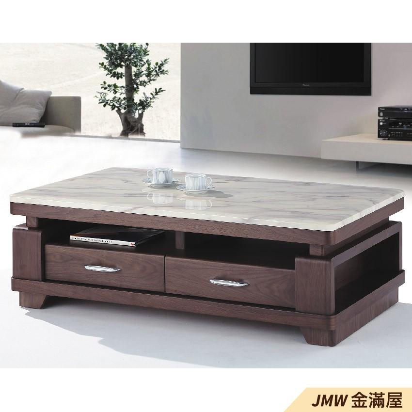 寬140cm客廳茶几組 北歐工業風桌金滿屋實木原木玻璃 大理石長方桌 大小邊几 圓桌 g632-