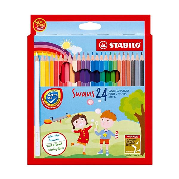 STABILO 德國 思筆樂 Swans 油性色鉛筆 24色組 / 盒 1879