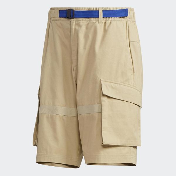 ADIDAS UB CARGO 男裝 短褲 休閒 穿搭 工裝 可調式腰帶 多口袋 卡其【運動世界】GL0393